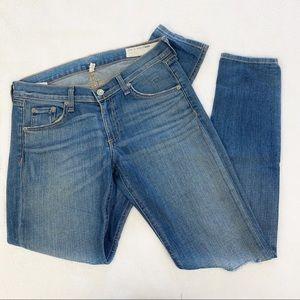 Rag & Bone Distressed Knees Skinny Jeans
